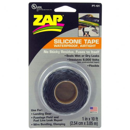 "Zap Black Silicone Seal / Insulation Tape - 1"" x 10ft"